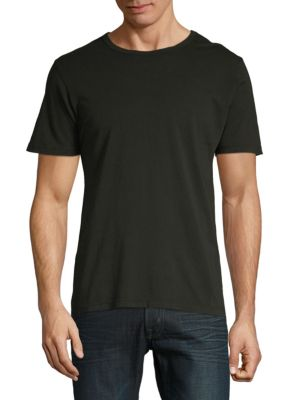 DTLA BRAND JEANS Short-Sleeve Cotton Tee in Black