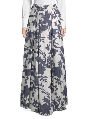 Jackie Floral Maxi Skirt, Navy