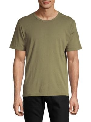 DTLA BRAND JEANS Short-Sleeve Cotton Tee in Green