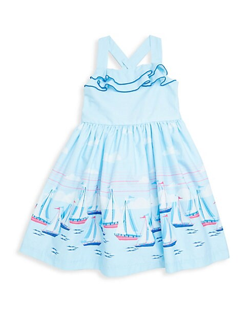 Little Girl's Sailboat Cotton Dress