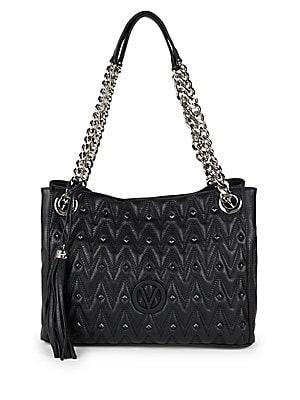 Luisa Studded Leather Shoulder Bag