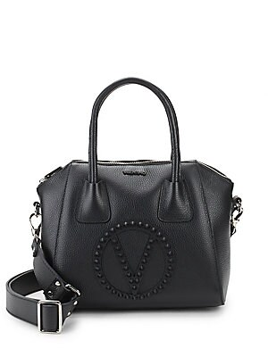 Minmi Rockstud Leather Satchel