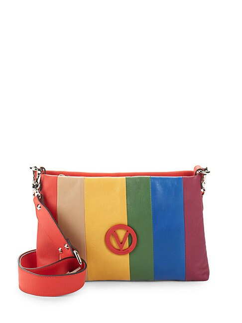 Rainbow Leather Crossbody Bag