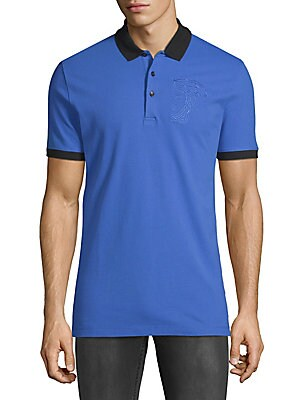Embroidered Logo Cotton Polo