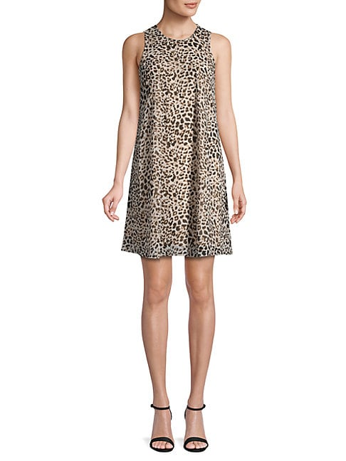 Animal-Print Shift Dress