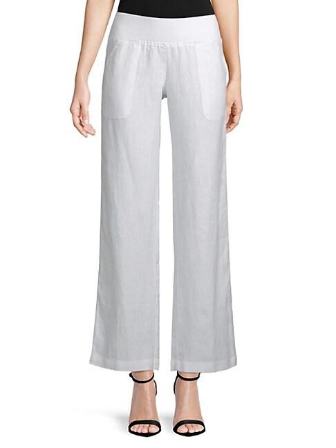 ALLEN ALLEN | Wide-Leg Linen Pants | Goxip