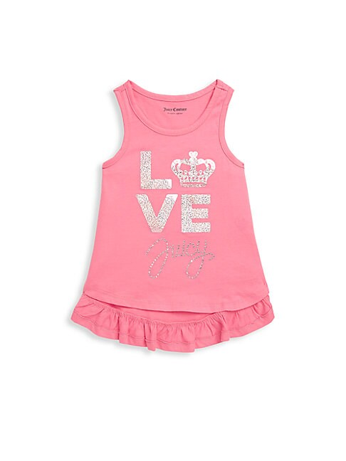 Little Girl's Studded Hi-lo Cotton Top