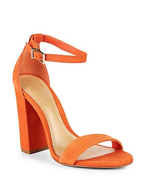 Enida Suede Ankle-Strap Sandals