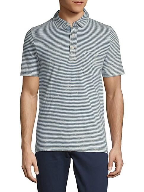 FAHERTY BRAND | Striped Cotton Polo | Goxip