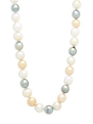Belpearl 9-11.5MM Multicolour Drop South Sea & Tahitian Pearl and 14K Yellow Gold Necklace