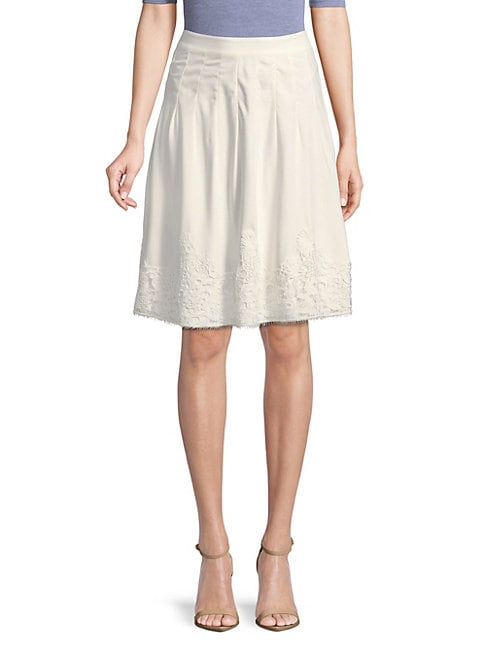 KARL LAGERFELD PLEATED LACE SKIRT