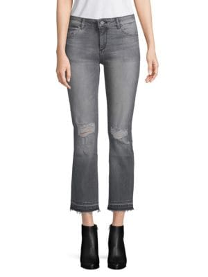 Dl1961 Mara Instasculpt Frayed Cuff Cropped Jeans
