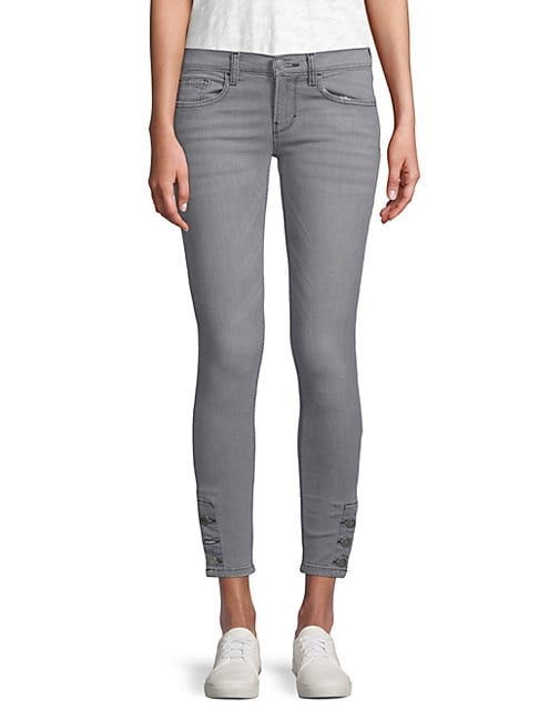 ETIENNE MARCEL | Buttoned Ankle Skinny Jeans | Goxip