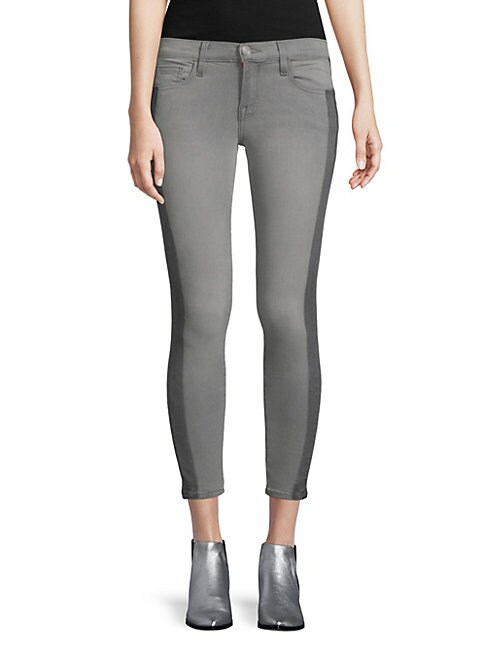 ETIENNE MARCEL   Two-Tone Skinny Jeans   Goxip