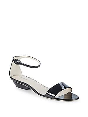 Giorgio Armani Patent Leather Flat Sandals