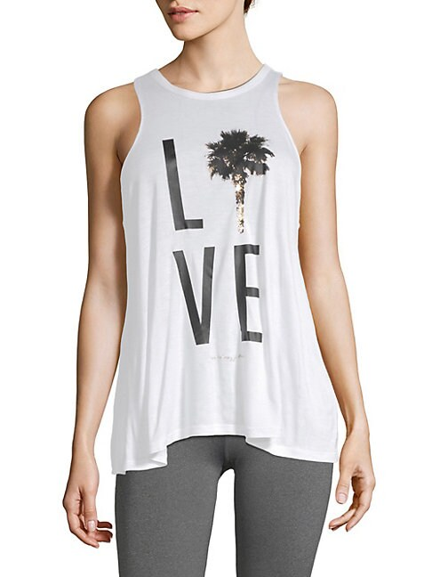 Palm Tree Lover Racerback Tank Top