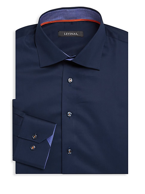 Contemporary-Fit Cotton Dress Shirt
