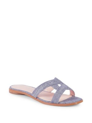 AVEC LES FILLES Women'S Blaye Denim Slide Sandals in Blue