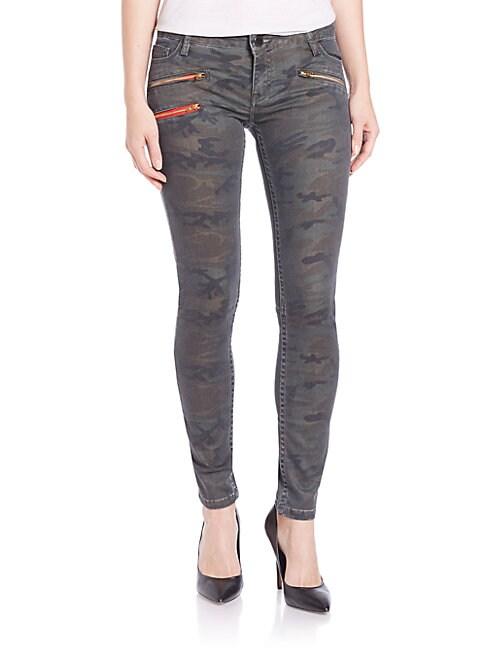 ETIENNE MARCEL   Zip-Pocket Skinny Jeans   Goxip