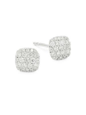 b8ee1a9442373 Saks Fifth Avenue - 14K White Gold & Pave Diamond Pendant Necklace ...