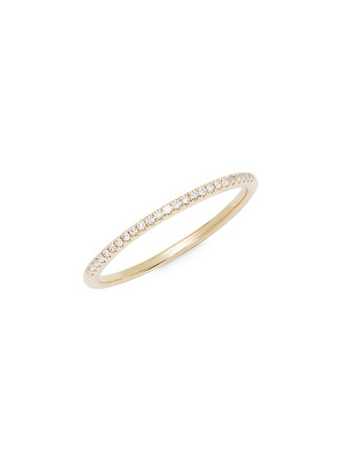 SAKS FIFTH AVENUE | Diamond and 14K Yellow Gold Band Ring | Goxip
