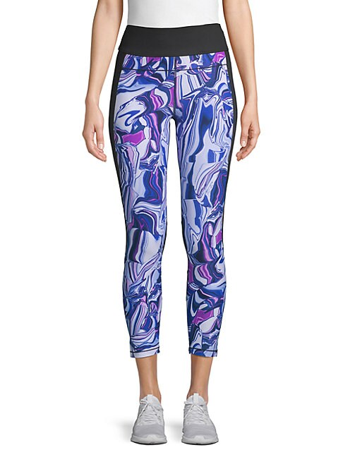 Printed Pocket Capri Leggings