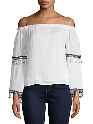 Coconut Off-The-Shoulder Blouse in Eggshell