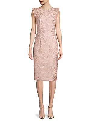 Flutter-Sleeve Lace Dress