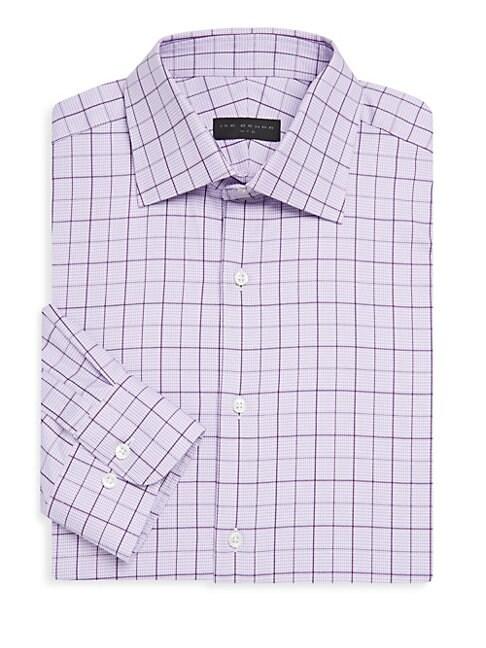 Cotton Overcheck Dress Shirt