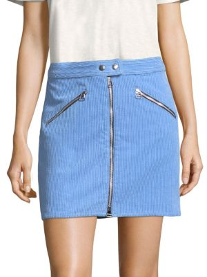 Racer Corduroy Short A-Line Skirt in Riviera Cord