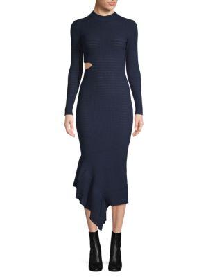 Ronny Kobo Charlize Asymmetrical Ruffle Dress
