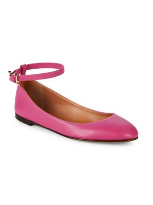 Valentino Classic Leather Ballet Flats In Lilac