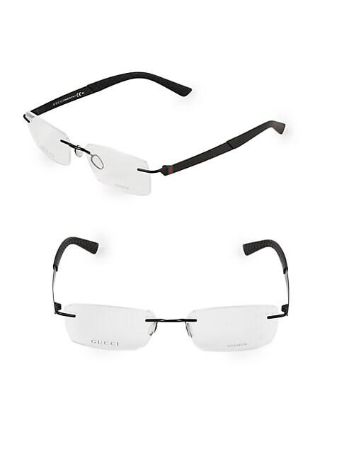 GUCCI | 54MM Rectangle Optical Glasses | Goxip