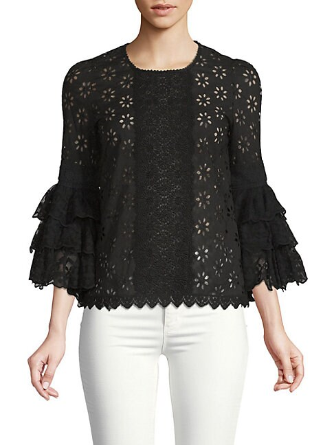Andrew Gn FLORAL LACE BLOUSE