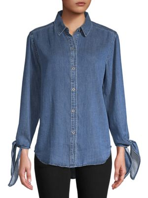 Bethany Tie Sleeve Shirt in Dark Vintage