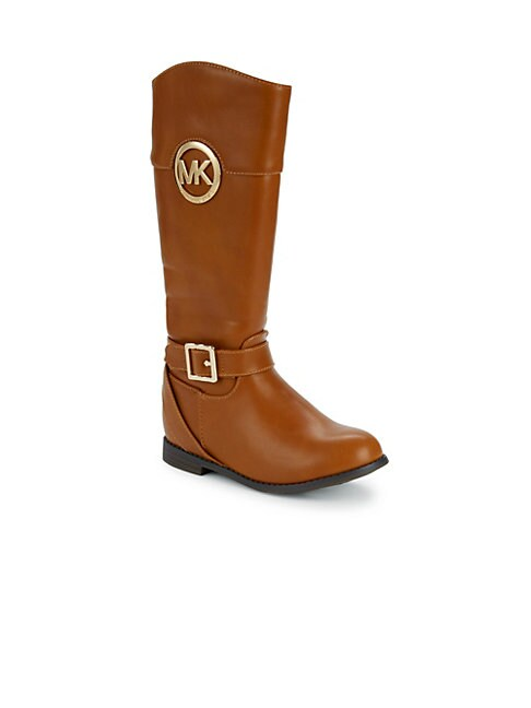 MICHAEL MICHAEL KORS | Girl's Emma Blair Mid-Calf Buckle Boots | Goxip