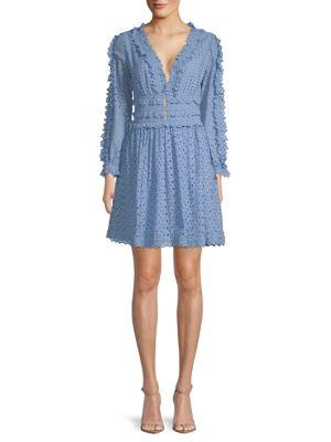 Allison New York Long-Sleeve Lace Cotton Dress