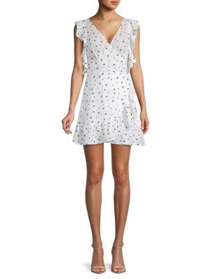 Allison New York Polka Dot Ruffled Dress