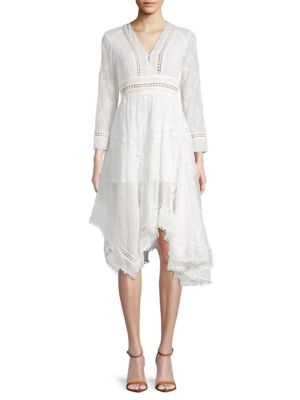 Allison New York Embroidered Asymmetrical Knee-Length Dress