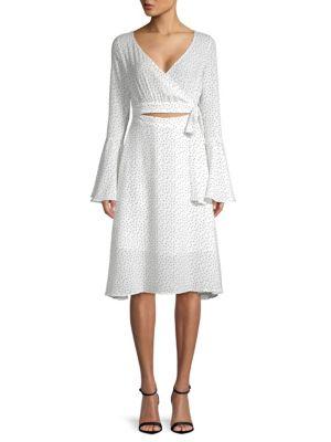 Printed Bell Sleeve Dress by Few Moda