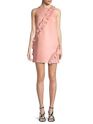 Frill-Trimmed Mini Dress