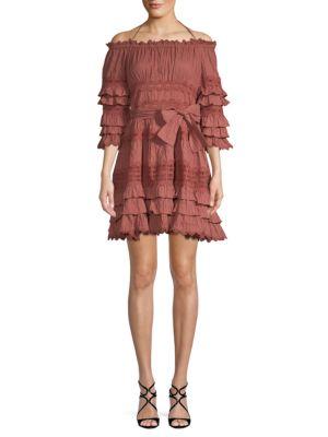 Few Moda Bow Knot Off-the-Shoulder Cotton Dress