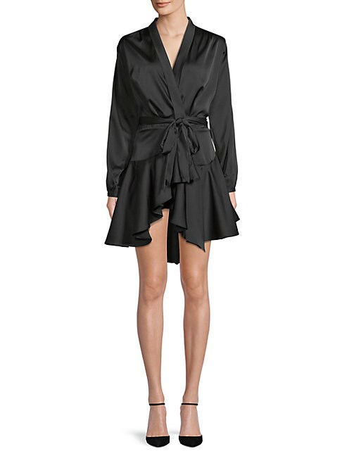 Few Moda Asymmetric Kimono Wrap Dress