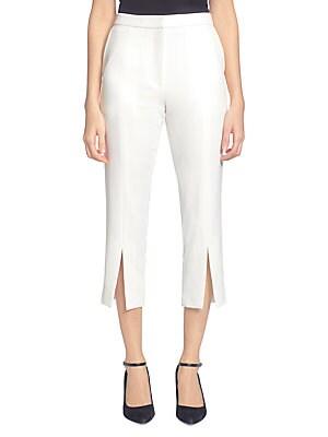 CATHERINE MALANDRINO Milou Cropped Pants in Bright White