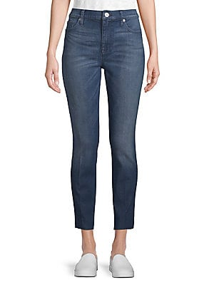 Released Hem Mid-Rise Ankle-Length Jeans