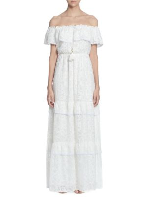 Catherine Catherine Malandrino Virginie Lace Off-The-Shoulder Maxi Dress