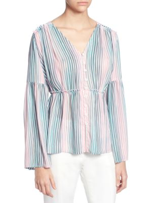 Catherine Catherine Malandrino FLORRIE STRIPED BLOUSE
