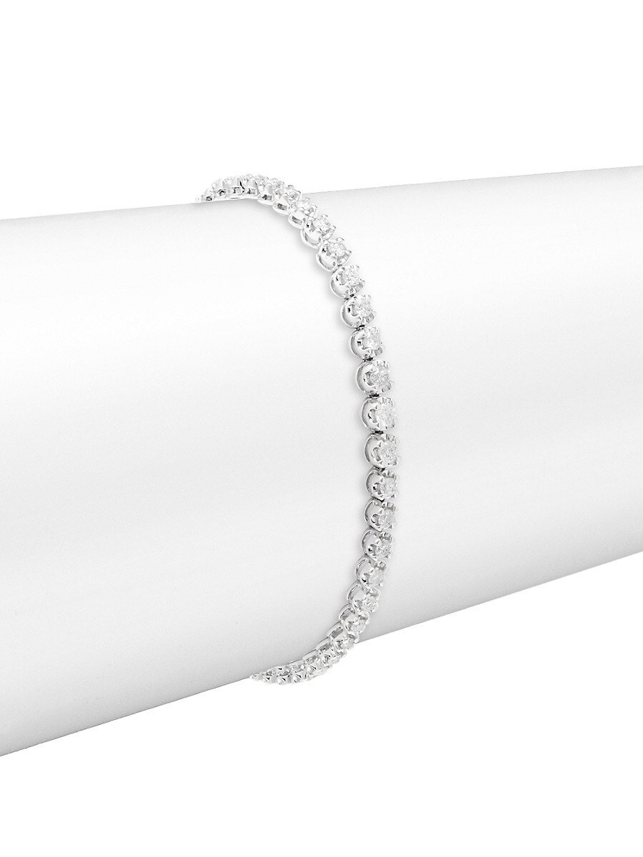 Women's 14K White Gold & 2 TCW Diamond Tennis Bracelet