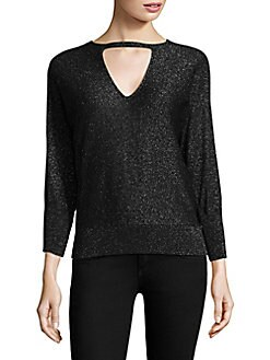 Milly - Shimmer Cutout Sweater
