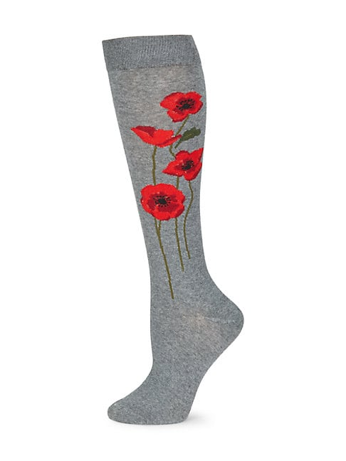 Falling Poppies Socks